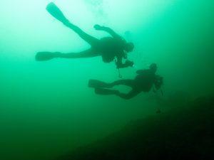 Unterwasserfoto Wintertauchplatz Sorpe
