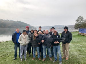 Gruppenfoto Tauchabteilung am Wintertauchplatz