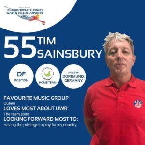 Tim Sainsbury Portrait Mannschaftsfoto